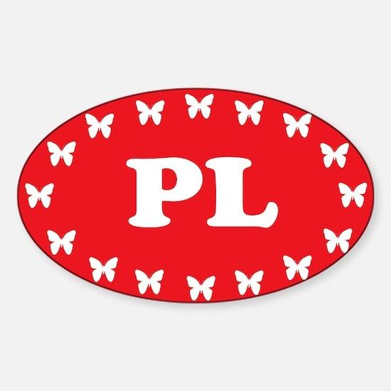 Cute Polska eu Sticker (Oval)