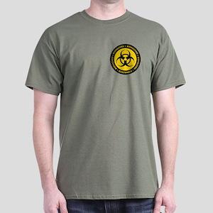 Yellow & Black Biohazard Dark T-Shirt