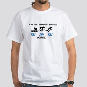 TIME 2 TRI White T-Shirt