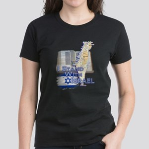 I Stand With Israel - Women's Dark T-Shirt