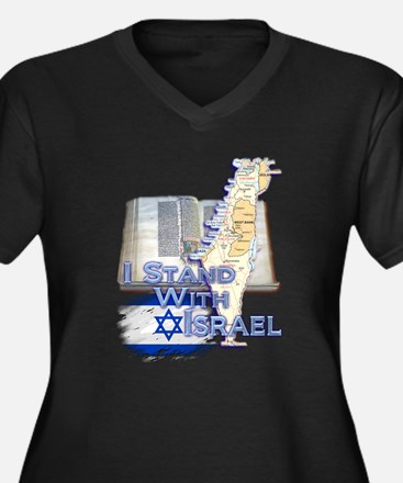 I Stand With Israel - Women's Plus Size V-Neck Dar