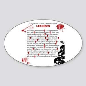 Cool Leonidas Life Lessons Sticker (Oval)