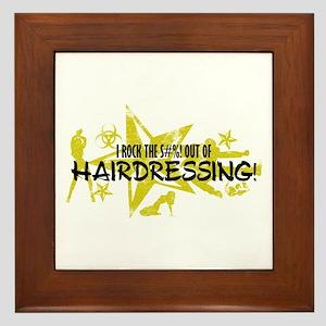 I ROCK THE S#%! - HAIRDRESSING Framed Tile