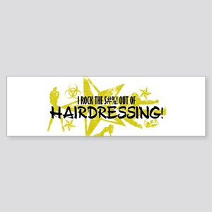 I ROCK THE S#%! - HAIRDRESSING Sticker (Bumper)