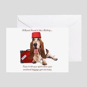 Basset Hound Bellhop Greeting Card