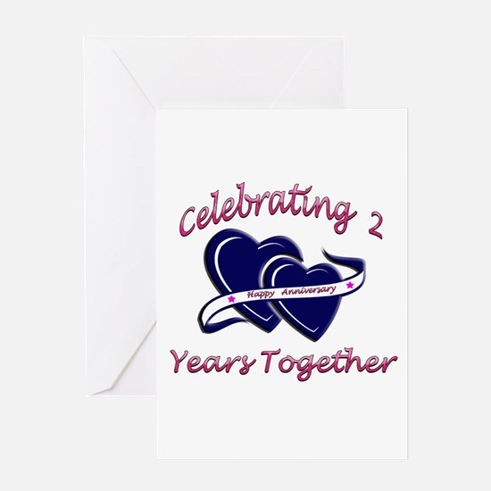 Cute 2nd wedding anniversary Greeting Card