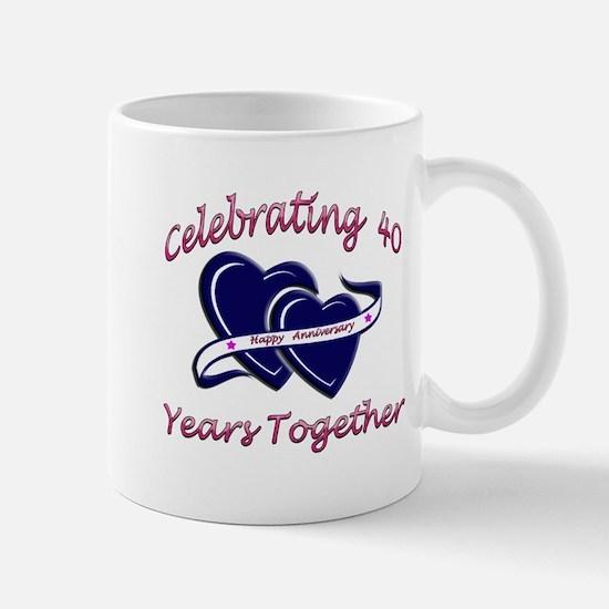 Cute 40th wedding anniversary Mug