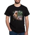 Brown Tree Squirrel Black T-Shirt