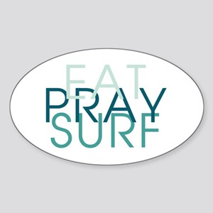 Eat Pray Surf - Sticker (Oval)