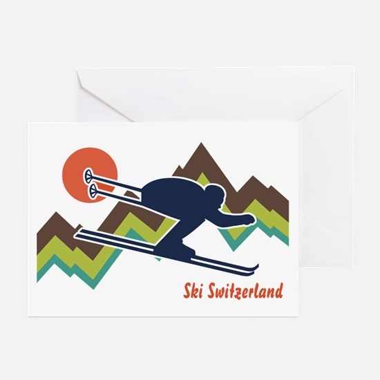 Ski Switzerland Greeting Cards (Pk of 10)