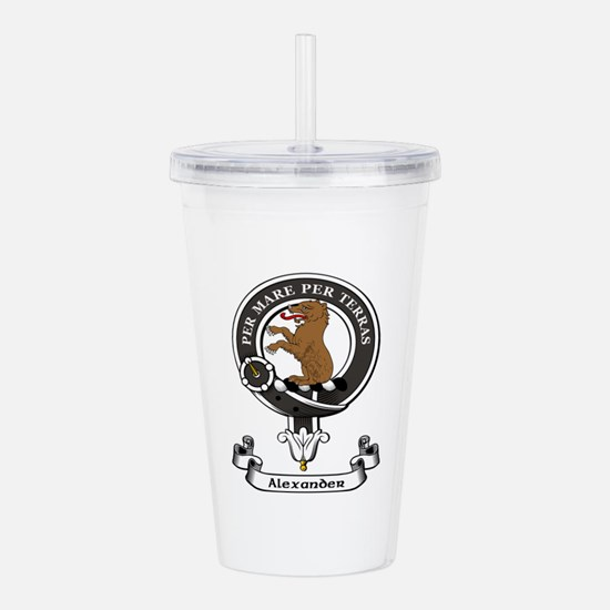 Badge-Alexander [Stirl Acrylic Double-wall Tumbler