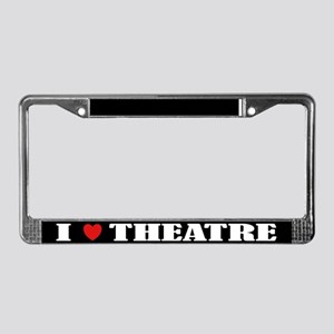 I Love Theatre License Plate Frame