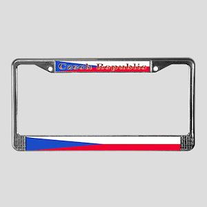 Czechoslovakia Blank Flag License Plate Frame