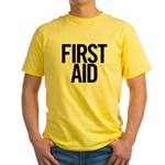 First Aid (black) Yellow T-Shirt