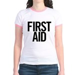 First Aid (black) Jr. Ringer T-Shirt