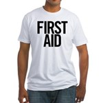 First Aid (black) Fitted T-Shirt