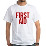 First Aid (red) White T-Shirt