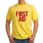 First Aid (red) Yellow T-Shirt