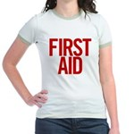 First Aid (red) Jr. Ringer T-Shirt