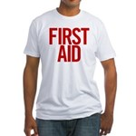 First Aid (red) Fitted T-Shirt