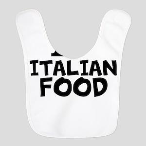 I Love Italian Food Polyester Baby Bib