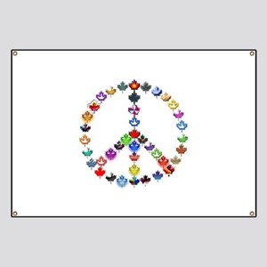 Maple Leaf Peace Sign Banner