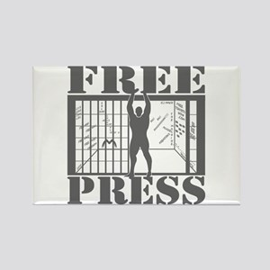 FREE PRESS! 2.0 Rectangle Magnet