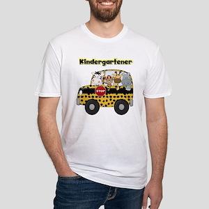 Zoo Animals Kindergarten Fitted T-Shirt