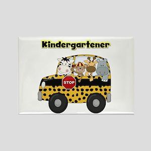 Zoo Animals Kindergarten Rectangle Magnet