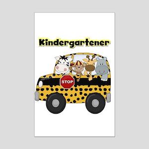 Zoo Animals Kindergarten Mini Poster Print