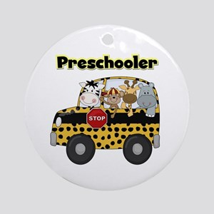 Zoo Animals Preschool Ornament (Round)