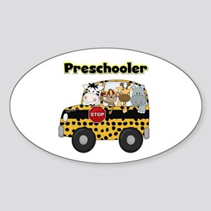 Zoo Animals Preschool Sticker (Oval)
