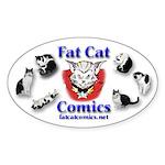 Fat Cat Comics Sticker (Oval 50 pk)