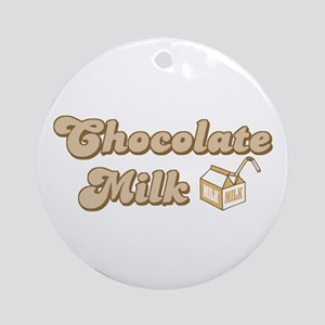Chocolate Milk Ornament (Round)