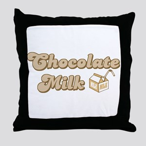 Chocolate Milk Throw Pillow