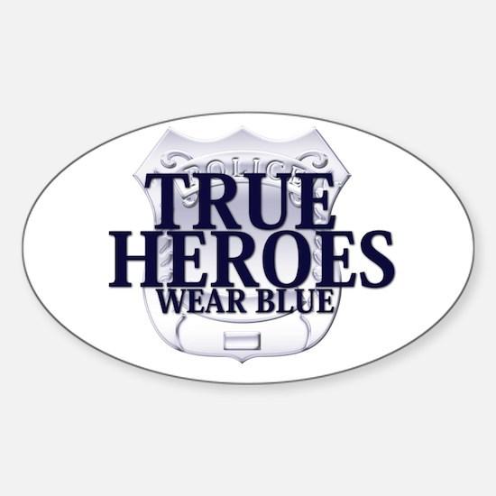 Police: True Heroes Sticker (Oval)