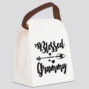 Blessed Grammy Canvas Lunch Bag