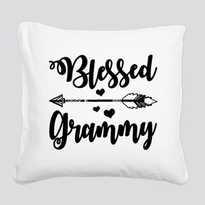 Blessed Grammy Square Canvas Pillow