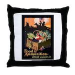 Food is Ammunition Poster Art Throw Pillow