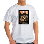 Food is Ammunition Poster Art Ash Grey T-Shirt