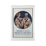 Enlist in the Navy Poster Art Rectangle Magnet (10