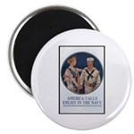 Enlist in the Navy Poster Art Magnet