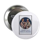 Enlist in the Navy Poster Art Button