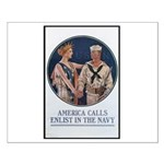 Enlist in the Navy Poster Art Small Poster