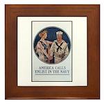 Enlist in the Navy Poster Art Framed Tile