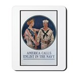 Enlist in the Navy Poster Art Mousepad