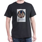 Enlist in the Navy (Front) Black T-Shirt