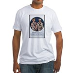 Enlist in the Navy (Front) Fitted T-Shirt