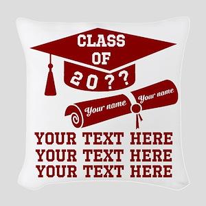 Class of 20?? Woven Throw Pillow