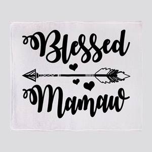 Blessed Mamaw Throw Blanket